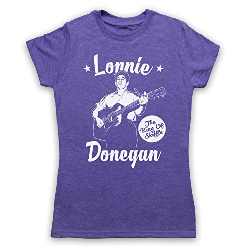 Lonnie Donegan The King Of Skiffle Damen T-Shirt Jahrgang Violett