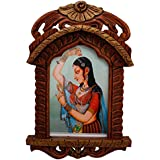Depawali Exclusive New Jaipuri Lady Bani Thani Wooden Jharokha Gift 174 Home|home Decoratives|handicrafts|special|unique|desiner|handmade|antique Items