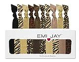 Emi Jay Animal Print - Pack de 10 gomas para el pelo, diseño de estampados animales, color negro