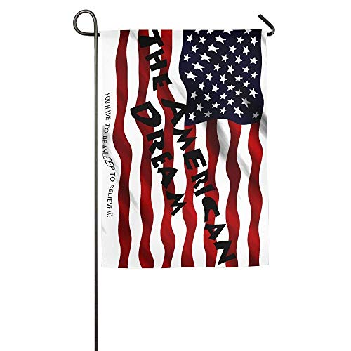Desing shop The American Dream Garden Flag Indoor & Outdoor Decorative Flags for Parade Sports Game Family Party Wall Banner 12.5x18 inches (Flag Dream American)