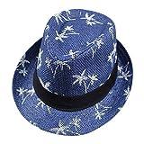ZKADMZ@ Heißer Verkauf ModeFaltbare Hüte Damen Frauen Männer Ahornblatt Stroh Strand Sonne Sommer Hut Kappe