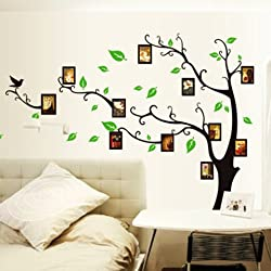 YESURPRISE Vinilo Decorativo Adhesivo Pegatina Pared Para Restaurante Hogar Sala Dormitorio Árbol Marcos De Fotos