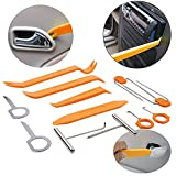 12PCs Auto Door Clip Panel Trim Removal Tool Kits Stereo Radio Interior Light Repair Tool Kit For Ford and Other Car
