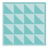 Bodenmatte Puzzlematte Schaumstoff Puzzle Kinderteppich Puzzlespielmatte Foam Matte Spielmatte Schaumstoff Verriegelung Puzzle Kinderteppich trigonal, grün AMP050Z3510LV