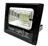 Bed Store Faro faretto a led con pannello solare da esterno IP67 con telecomando con timer 10w 25w 40w 60w 100w (100)