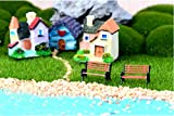 10pcs Mini Bancos Miniatura Casa de Muñecas Bonsai Hada de Jardín Paisaje Bricolaje Tamaño S - Desconocido - amazon.es