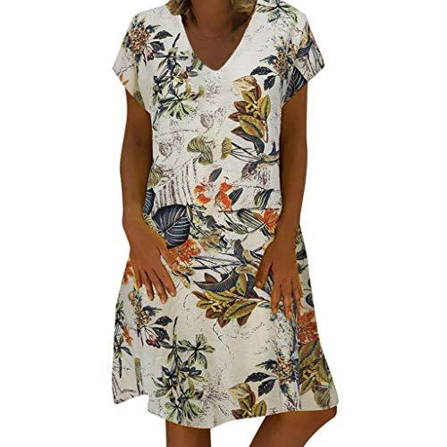 Kleid Damen Frauen Sommer V-Ausschnitt mit Blumenmuster Maxi Kleid Ärmellos Mesh Kleid Sommerkleider Knielang Cocktailkleid Schöne Kleider Elegante Fleece-mesh Pullover