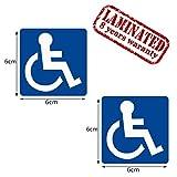 2 Stück Vinyl Aufkleber Autoaufkleber Behindert Symbol Rollstuhlfahrer Rollstuhl Stickers Auto Moto Motorrad Fahrrad Fenster Tür Tuning B 34