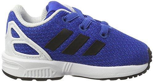 adidas ZX Flux J, Scarpe da Ginnastica Unisex-bambini Blu (Blue/Core Black/Ftwr White)