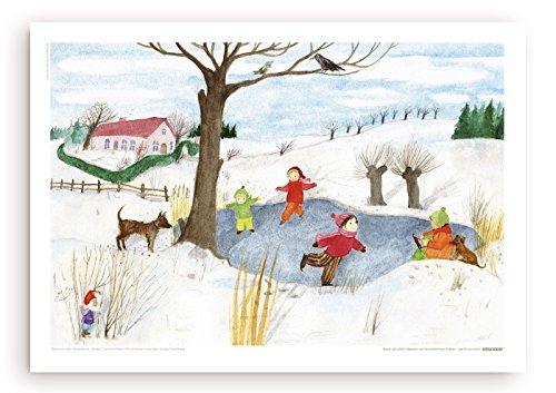 Winterkälte - Poster mit Illustration von E.M. Ott-Heidmann vom schnurverlag