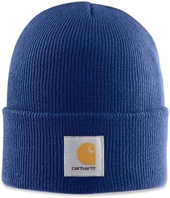 Carhartt Gorro Acrílico - Azul Sombrero Gorra de Beisbol Logotipo A18DCB CHA18DCB-Universal