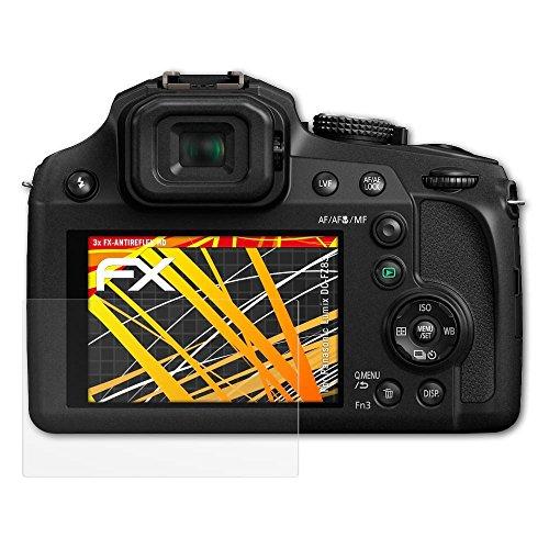 atFoliX Schutzfolie kompatibel mit Panasonic Lumix DC-FZ83 Displayschutzfolie, HD-Entspiegelung FX Folie (3X)