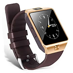 Royal Bluetooth Smart Watch Phone With Camera and Sim Card Support With Apps notification like Facebook and WhatsApp with Touch Screen Multilanguage Android/IOS Mobile Phone Wrist Watch Phone with activity trackers and fitness band features compatible with Micromax Canvas Nitro 3 E455
