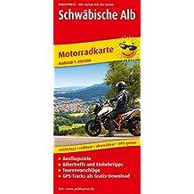 Schwäbische Alb: Motorradkarte mit Tourenvorschlägen, Ausflugszielen, Biker- & Einkehrtipps, reissfest, wetterfest, abwischbar, GPS-genau. 1:200000 (Motorradkarte / MK)