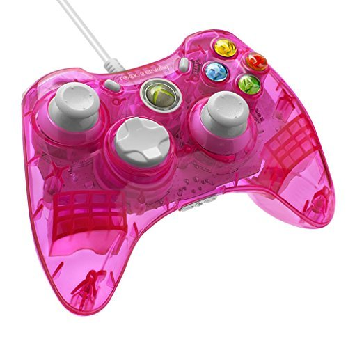 Rock Candy 360 Controller Xbox (PDP Rock Candy Wired Controller for Xbox 360 - Pink Palooza by PDP)