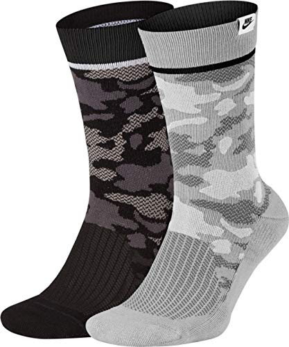 Nike U SNKR SOX Crew 2PR - CAMO Socks, Multi-Color, XL