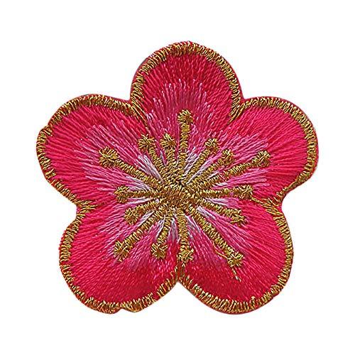 CAOLATOR.Blumen Aufnäher Patches Stickerei Blume Applikation Patches Sticker für T-Shirt Jeans Kleidung Taschen Blau -