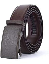 AFHWUDDW Taillengürtel Men's beltfashionadultmature manworkautomatic buckleleatherbeltbusinessalloy buckle