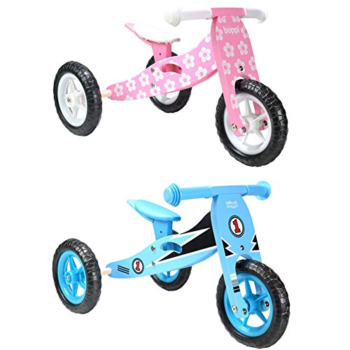 Boppi® Triciclo de Madera 2 en 1 - Bicicleta sin Pedales