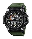 #1: SKMEI Analog-Digital White Dial Men's Watch-1283 Green
