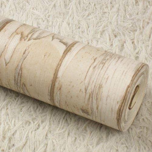 JSLCR Alte Tapete und Nachahmung Holzmaserung Holz Retrotapeten zu tun,DF20001