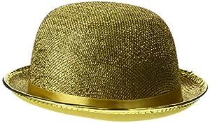 Reír Y Confeti - Fiedis063 - Disfraces de accesorios - Chapeau Melon Glitter Oro