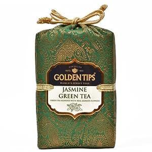 Golden Tips Jasmine Green Tea Brocade Bag, 100g