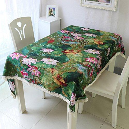 GS~LY Caldo tovaglia Romance/Table runner vento classica Lotus inchiostro panno di carta da parati / tessuto cotone / Tavolino panno per il Partito Home Ristorante Hotel , verde , formato personalizzato