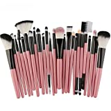 Makeup Kosmetik Pinsel Xinan 25PC Cosmetic Blusher Lidschatten Pinsel Set Kit Bürste Kontur Pinsel Tool (❤️, Rosa)