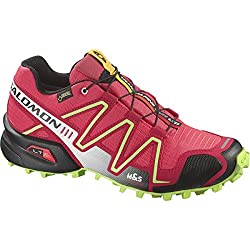 SALOMON Speedcross 3 GTX W Damen-Laufschuh 372400 Papaya/Dynamic/Firefly Green Gr. 40 2/3 (UK 7,0)