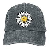 Wdskbg Smiley World Daisy Smiley Denim Hat Adjustable Unisex Great Baseball Cap Multicolor3