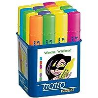 Tratto - Evidenziatore Video Colori Assortiti (Pacco da 20)