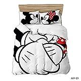 BEDSETAAA Winter Vierteilige Heimtextilien Set Bettbezug Kissenbezug Cartoon Bettwäsche Kinderbettwäsche Home Queen Bed Set Bettbezug 155x215cm 4