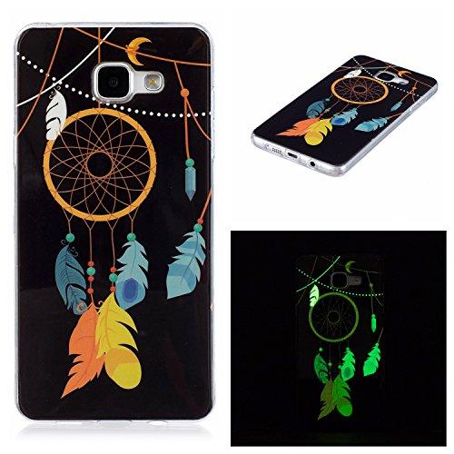 Meet de Slim de Protection Téléphone Case pour Samsung Galaxy A5 2016 /A510 (5,2 pouces) Bumper Case Coque Slim TPU Transparent Silicone Housse Etui - campanule