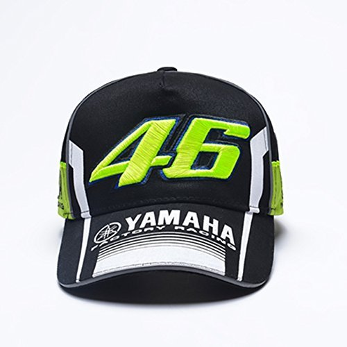 Yamaha Casquette VR46 Official Team Moto Gp Valentino rossi Replica New VR46 Yamaha cap 2017 (NOIR)