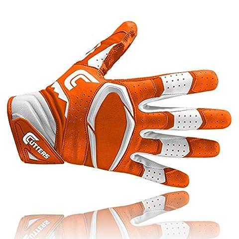 Cutters S451 Rev Pro 2D Gants de Football Américain Orange,