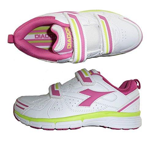 Sneaker Diadora Jovem C5470 Bianco Rosa 7HfE6w