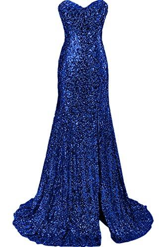 Ivydressing Damen Luxurioes Meerjungfrau Stil Herz-Ausschnitt Promkleid Festkleid Abendkleid Royalblau