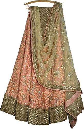 Generic Women's Silk Multi-Coloured Embroidary Lehenga cholis (lehenga_BEAUTY-39_FreeSize)