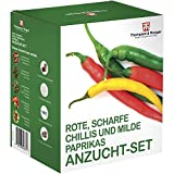 Red Hot Chilli & Sweet Pepper Seed Growing Kit Gift Box - 5 Palatable Peppers to Grow; Jalapeño M,Thai Hot Chilli, Numex Twilight, Sweet Pepper Summer Salad & Sweet Pepper Boneta by Thompson & Morgan