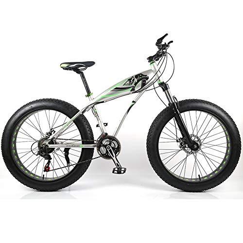 YOUSR Mountainbike vorne und hinten Scheibenbremse Mountainbikes Aluminiumlegierung Rahmen für Männer und Frauen Gray 26 inch 27 Speed