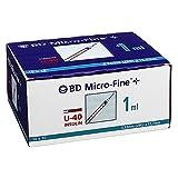 BD Micro-Fine+ U 40 Insulinspritze 12,7 mm, 100X1 ml