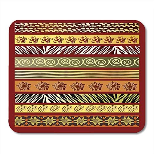 Luancrop Mauspads Batik Green Ethnic von African in Earth Tones Red Mauspad für Notebooks, Desktop-Computer Matten Bürobedarf -