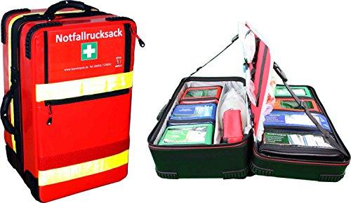 """Notfallrucksack""""Premium-X1"""" Arztpraxis mit allen erforderlichen Notfallartikeln gem. DIN 13232"""