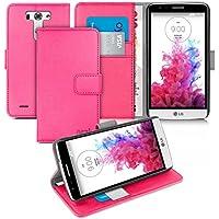 Orzly® - LG G3-S (G3 MINI) - Multi-Function Wallet Stand Case - CUSTODIA con PORTAFOGLIO e SOSTEGNO SUPPORTO INTEGRATO - Copertina Protettivo con coperchio magnetico - Copertura in ROSA - Progettato Esclusivamente per LG G3 S (SMALL VERSION of LG G3 SmartPhone / Telefono Cellulare - ALIAS: LG G3 MINI / G3-S / etc.- 2014 Release) - Fits Model Numbers: LG D722 / D725 / D728 / D722K / D724 / etc.