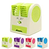 #5: Kakde's & CO. Mini Fan & Portable Dual Bladeless Small Air Conditioner Water Air Cooler Powered By Usb & Battery Use Of Car/Home/Office
