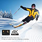 APEMAN 4K Action Cam Action Camera WIFI Sport Camera con Custodia Impermeabile 20 MP 170° Grandangolare 2.0 Pollici due 1050mAh Batterie e Kit Accessori con Pacchetto Portatile (Nero)