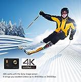 APEMAN 4K Action Cam Action Camera WIFI Sport Camera con Custodia Impermeabile 20 MP 170° Grandangolare 2.0 Pollici due 1050mAh Batterie e Kit Accessori con Pacchetto Portatile (Nero) - apeman - amazon.it