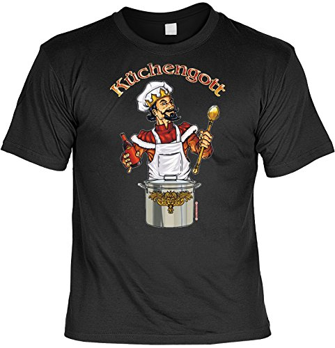 prüche Fun T-Shirt : Küchengott ()