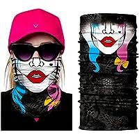 inGow© Bandeau tour de cou Multifonction Design en Polyester Skull Cache Cou Foulard Écharpe pour Motards ou Airsoft Masque Chapeaux Bandana Bandeaux Masque Moto